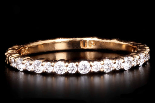 18K Rose Gold .35 Carat Diamond Eternity Band Size 7 - Queen May