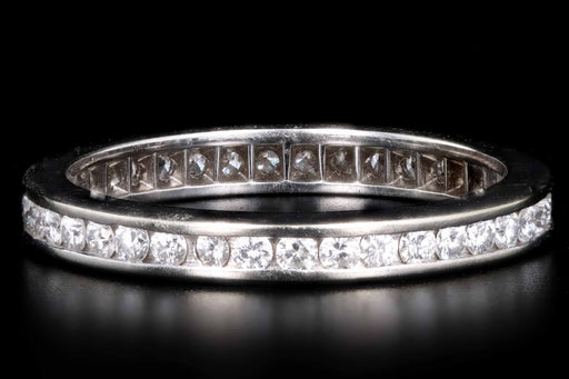 14K White Gold Diamond Eternity Band Ring - Queen May