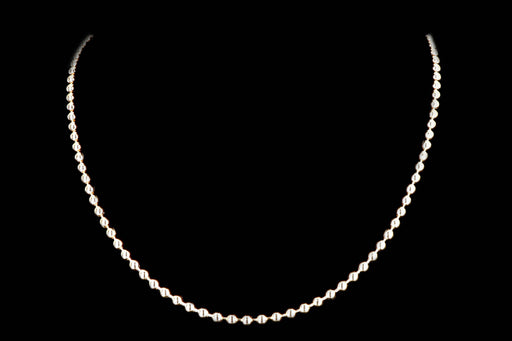 New 14K Yellow Gold Bead Chain Necklace - Queen May