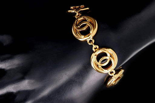 1983 Vintage Chanel Logo Bracelet - Queen May