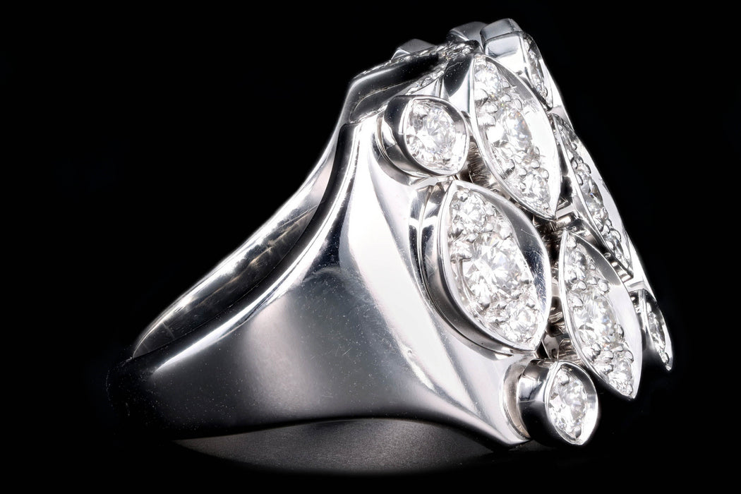 Modern Cartier Diadea 18K White Gold Diamond Ring - Queen May