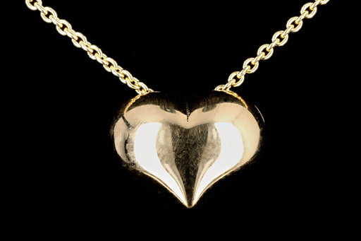 New 14K Gold Puffy Heart Necklace - Queen May