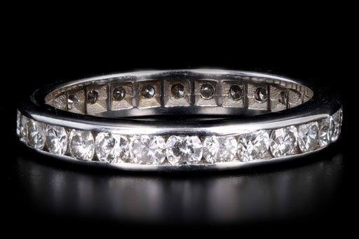 14K White Gold 1.5 Carat Diamond Eternity Band Ring Size 5.5 - Queen May