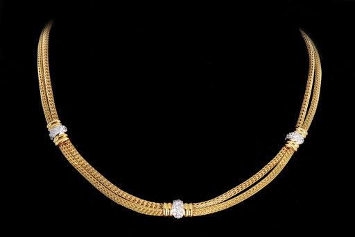 Modern 18K Gold .50 Carat Round Brilliant Diamond Necklace - Queen May