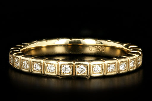 New 14K Yellow Gold .24 Carat Round Brilliant Diamond Band - Queen May