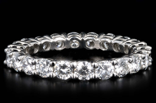 New Platinum 1.80 Carat Total Weight Diamond Eternity Band - Queen May