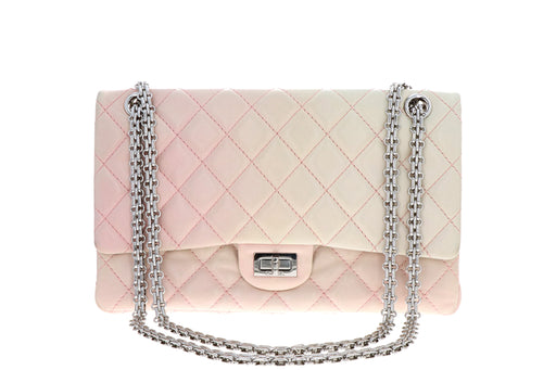 Chanel Lambskin 2.55 Reissue 227 Double Flap Bag Degrade Pink - Queen May