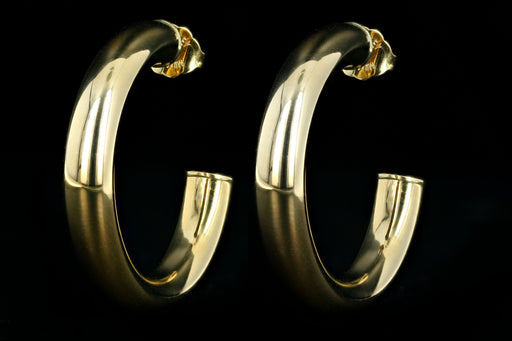 New 14K Yellow Gold Open Hoop Earrings - Queen May