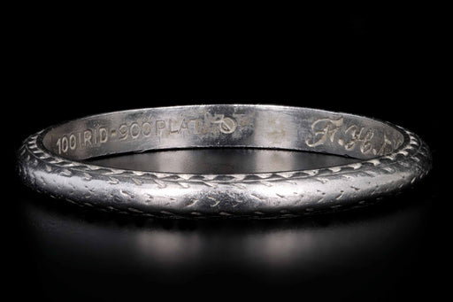 Platinum Art Deco Wedding Band Dated 10-24-1929 - Queen May