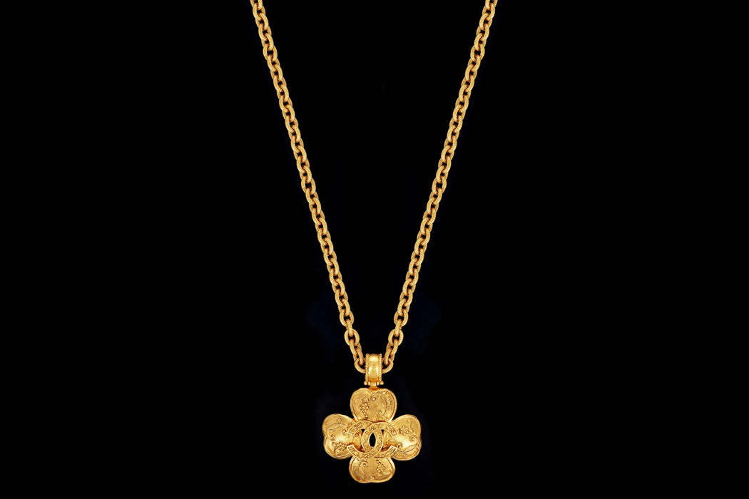 1990's Vintage Chanel Gold Plated Necklace - Queen May