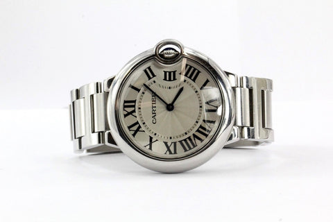 Cartier Ballon Bleu medium midsize Wrist Watch model W69011Z4 3005 Unisex