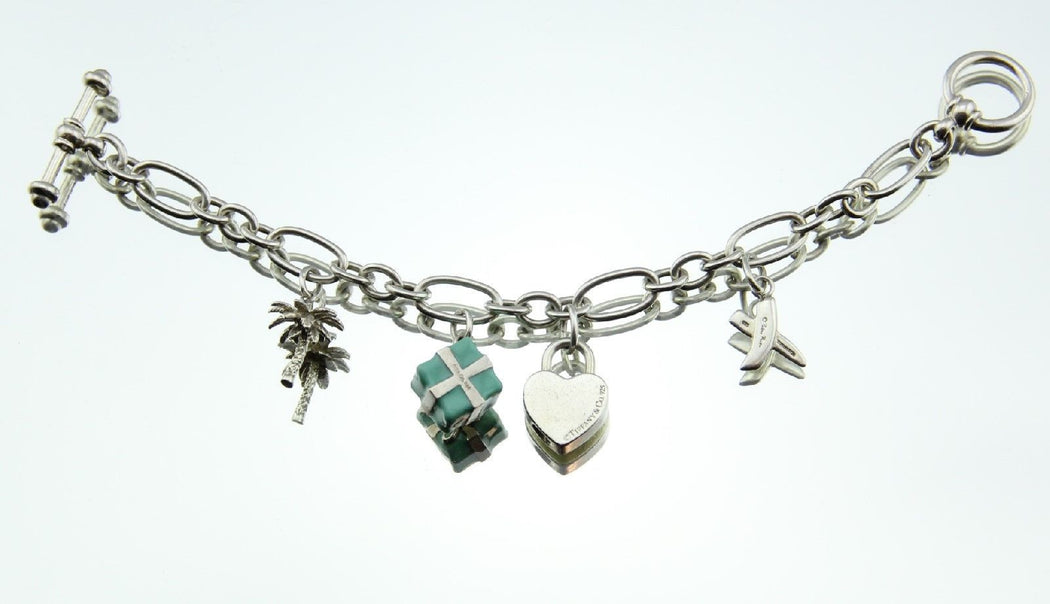 Tiffany & Co Paloma Picasso Toggle Bracelet includes 4 Authentic Tiffany Charms - Queen May