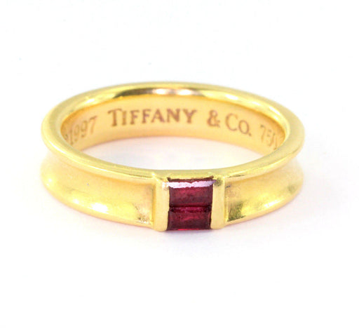 4e1d1a204 Tiffany & Co 18K Yellow Gold Ruby Stack Band Ring - Queen May