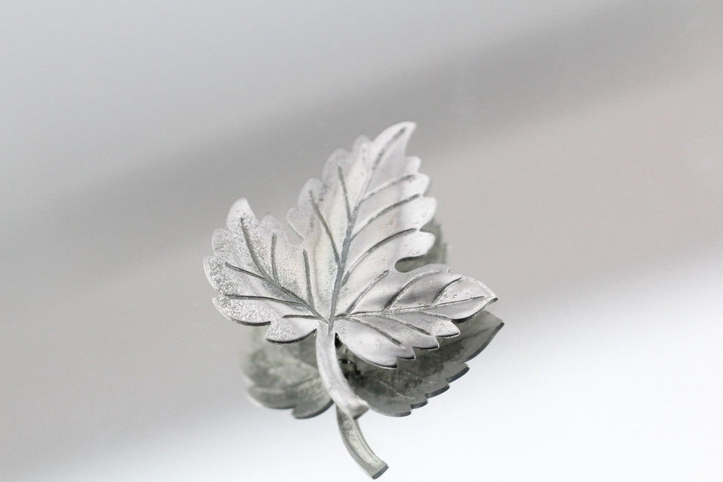 Tiffany & Co. Sterling Silver Maple Leaf Pin Brooch - Queen May