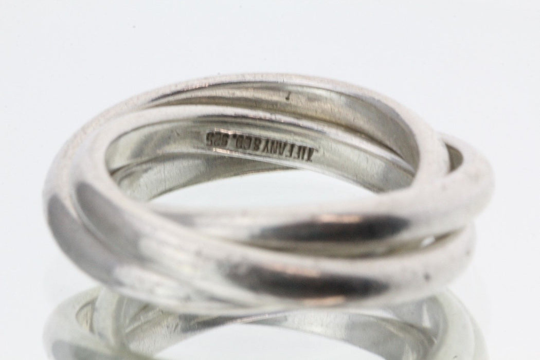 Tiffany & Co Sterling Silver Rolling Ring Band Size Size 6 - Queen May