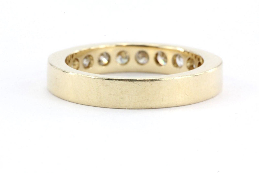 Vintage 14K Gold .75 TCW Diamond Half Eternity Band Exquisite Brand Size 6.25 - Queen May