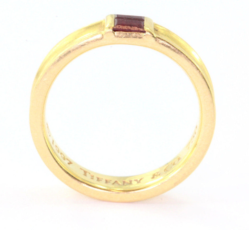 Tiffany & Co 18K Yellow Gold Ruby Stack Band Ring
