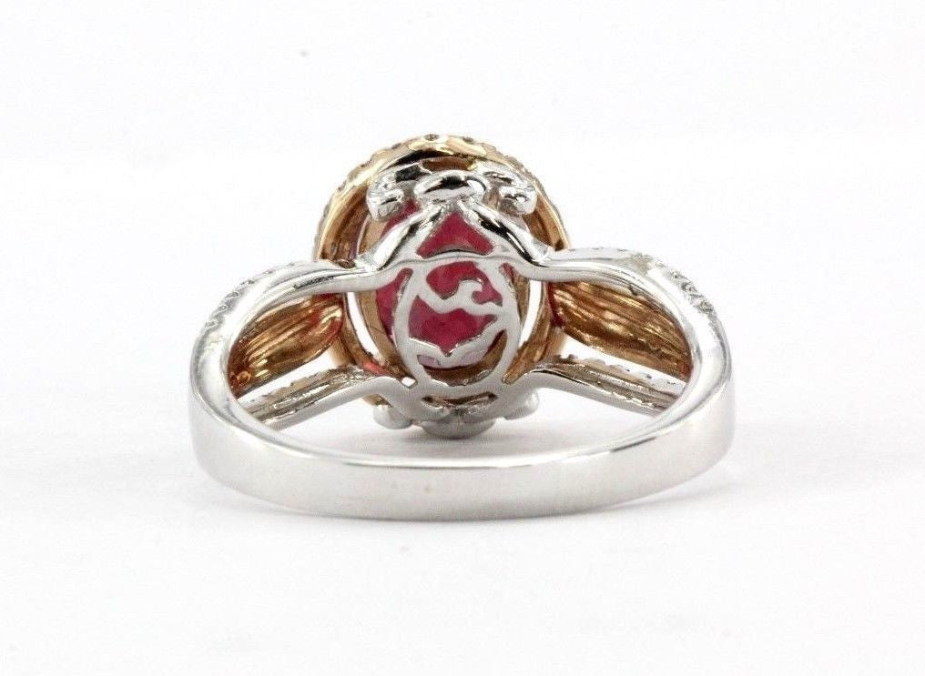 14K White & Rose Gold EFFY Ruby Royale, Diamond & Ruby Ring