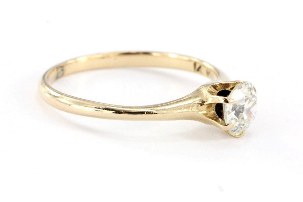 Antique Victorian 14K Gold .60 Carat Old Mine Diamond Engagement Ring - Queen May