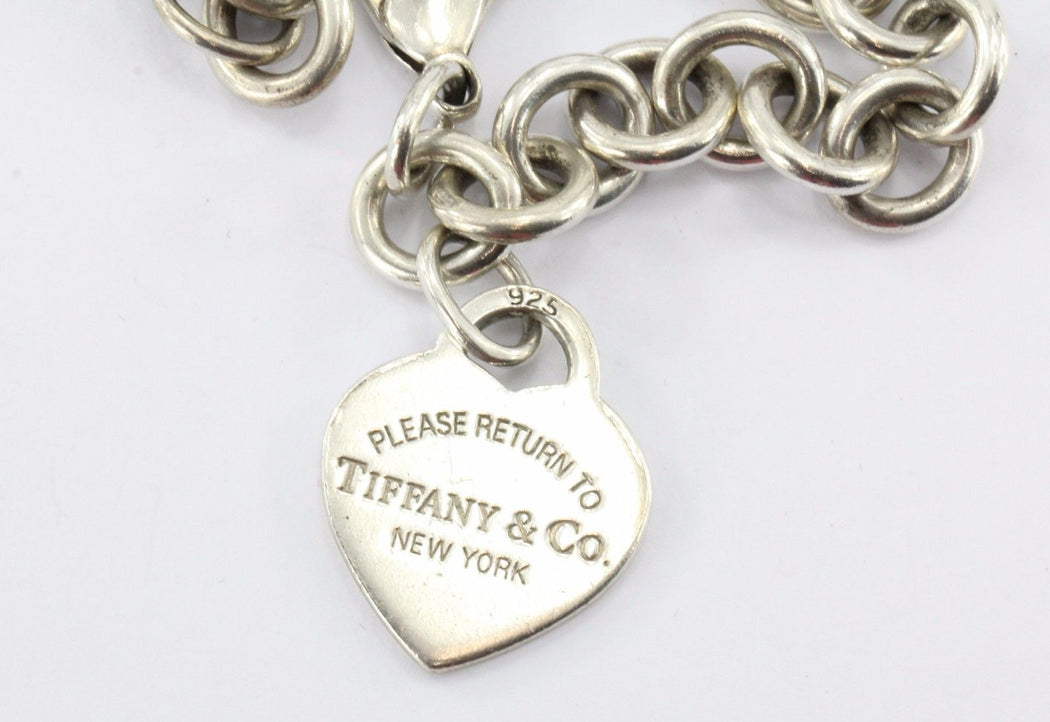 Vintage Tiffany & Co Please Return To Heart Tag Bracelet - Queen May
