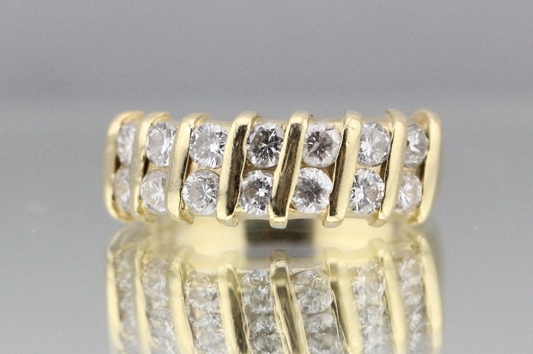 14K Gold 1.5 Carat Diamond Engagement Ring Wedding band Size 6.25 - Queen May