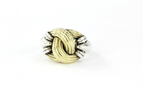 Lagos Sterling Silver & 18K Gold Classic Caviar Medium Knot Ring