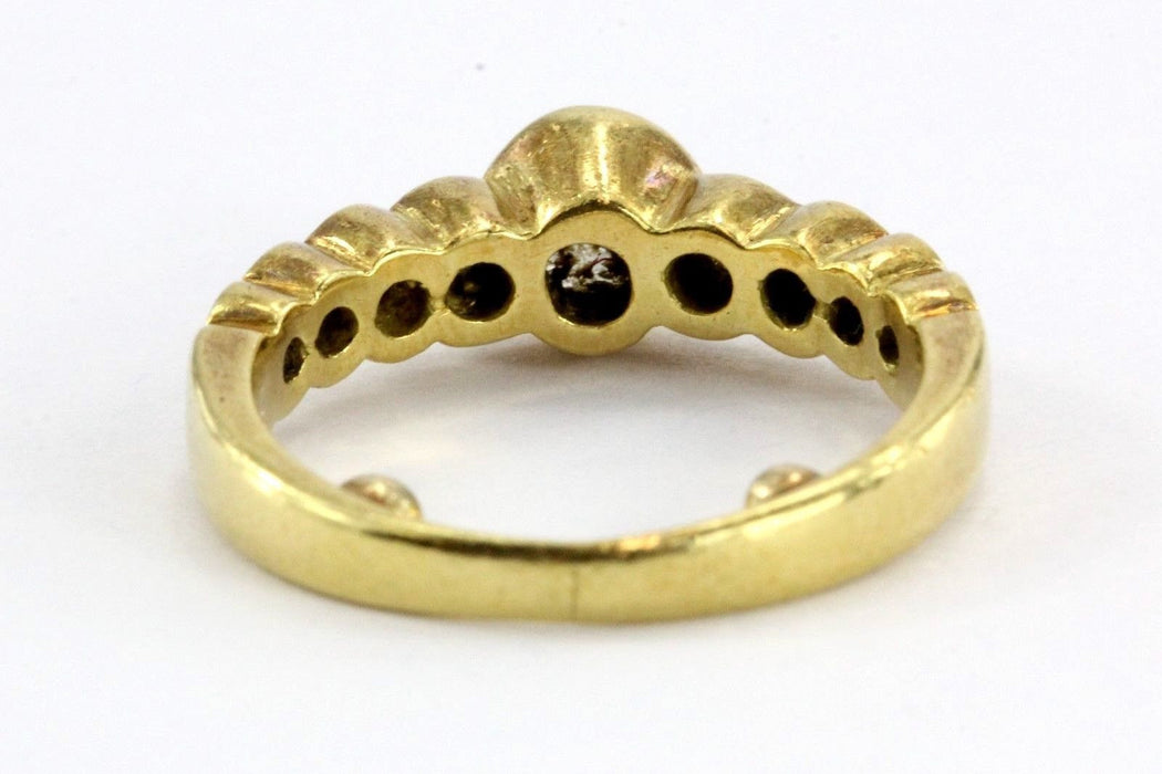 Vintage 18K Gold 1 Carat Total Diamond Engagement Wedding Ring Band - Queen May