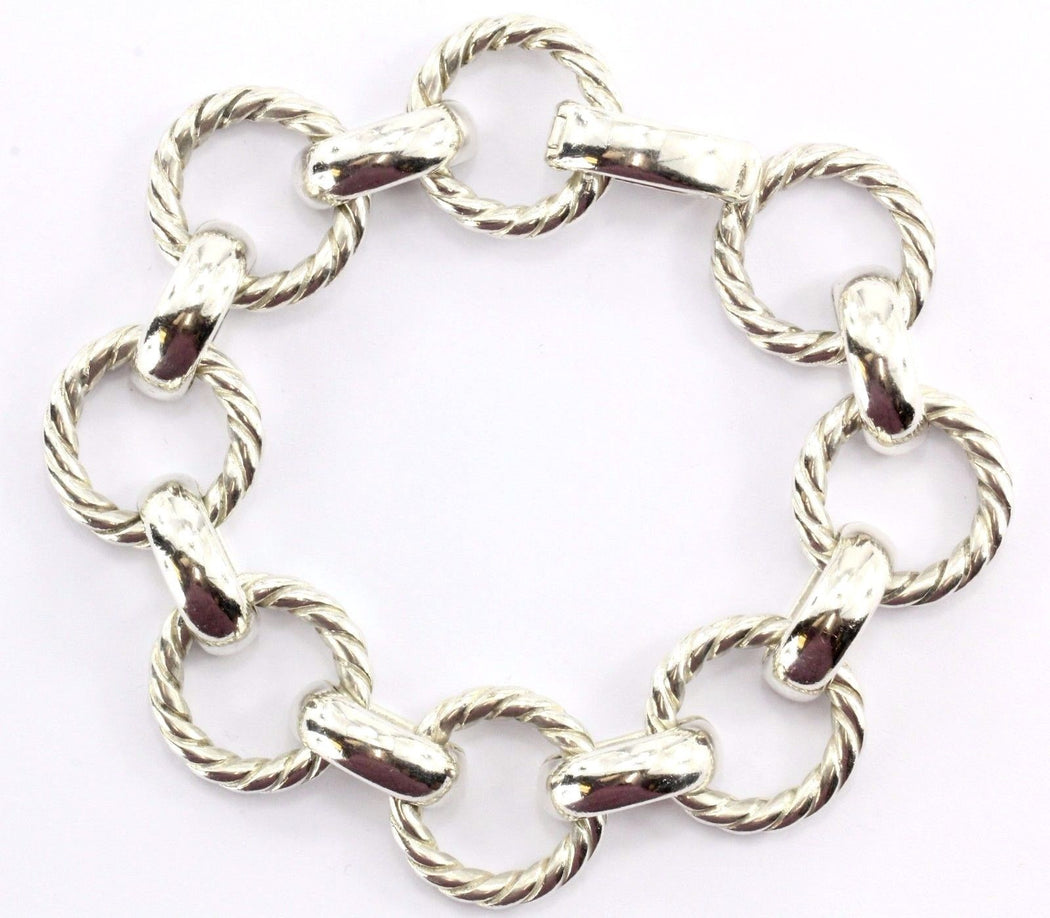 RARE Tiffany & Co. Sterling Silver Circle Bracelet - Queen May