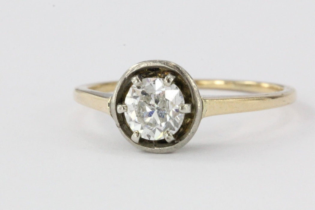 Antique Victorian 14K Gold Old Mine .60 Carat Diamond Engagement Ring - Queen May