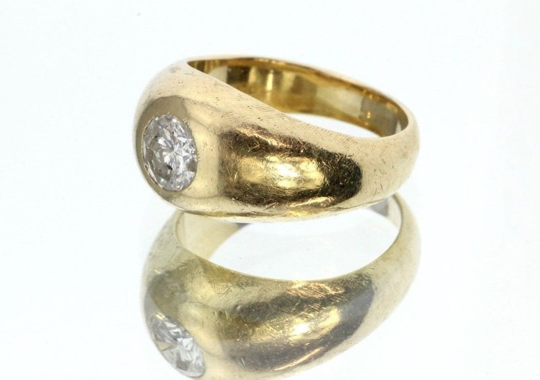Antique 14K Gold Diamond Gypsy Ring by Weinrich Bros