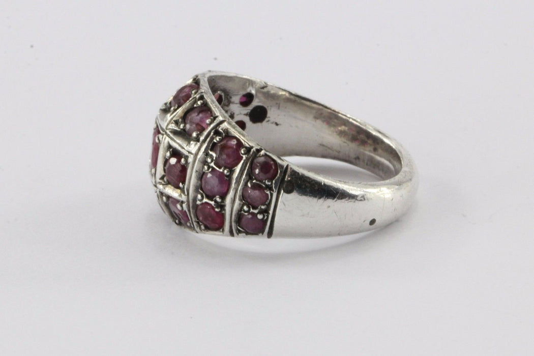 Vintage Art Deco Sterling Silver & Ruby Ring