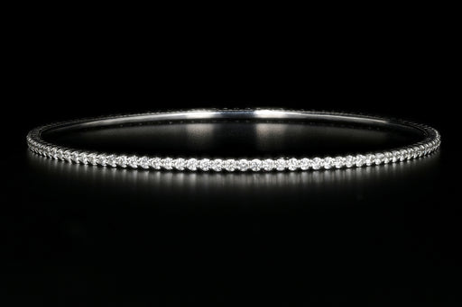 14K White Gold 2.87 Carat Diamond Bangle - Queen May