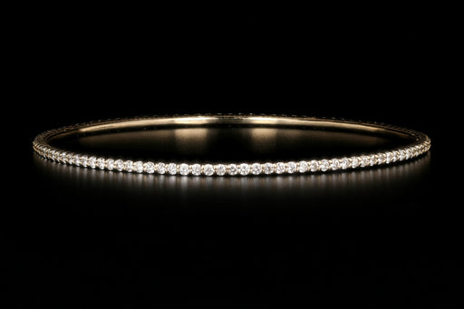 14K Yellow Gold 2.87 Carat Diamond Bangle - Queen May