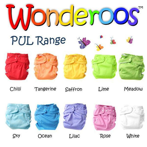 Wonderoos one size pocket nappy PUL