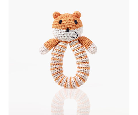 Pebble - Bear Rattle Soft Orange