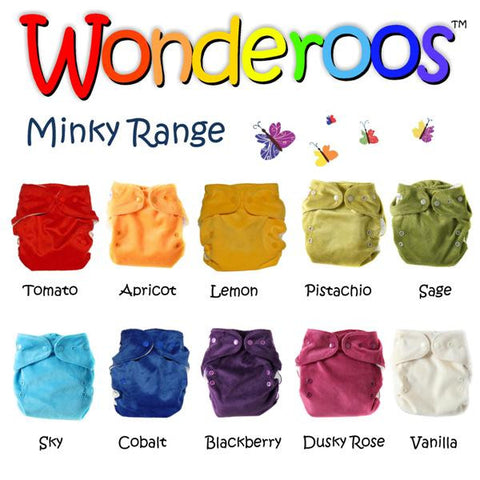 Wonderoos one size pocket nappy Minky