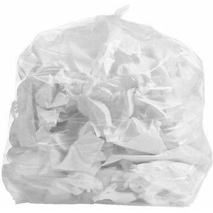 33 Gallon Garbage Bags: Clear, 1.3 Mil, 33x39, 100 Bags.