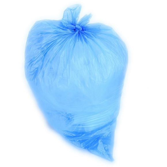 40-45 Gallon Garbage Bags: Blue, 1.5 MIL, 40x46, 100 Bags.