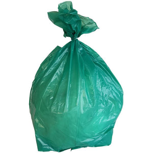 50-60 Gallon Garbage Bags: Green, 1.2 Mil, 38x58, 100 Bags.
