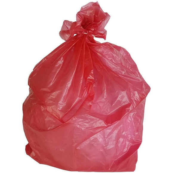 50-60 Gallon Garbage Bags: Red, 1.2 Mil, 38x58, 100 Bags.