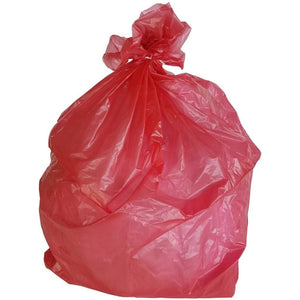 33 Gallon Garbage Bags: Red, 1.5 MIL, 33x39, 100 Bags.