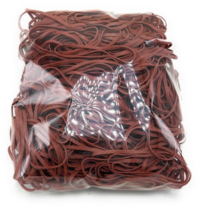 Rubber Bands #33: #33 Size, Brown, 1LB/500 Count.