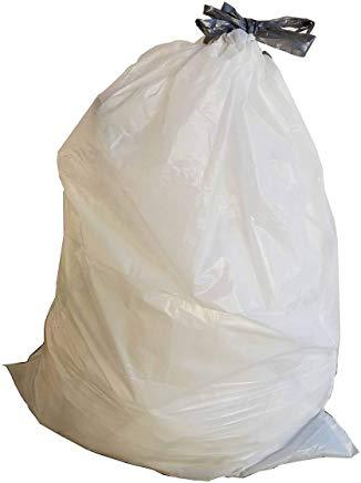 5 Gallon Garbage Bags, Drawstring: White, 1 MIL, 16x28, Select Case.
