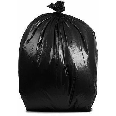 65 Gallon Garbage Bags: Black, 1.5 Mil, 50X48, 50 Bags.