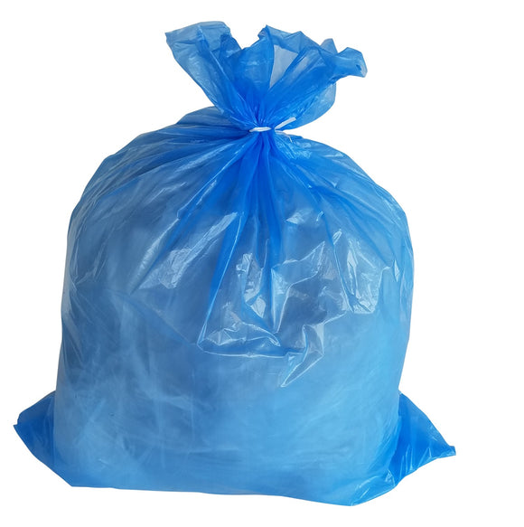 95 Gallon Garbage Bags: Blue, 1.5 Mil,  61x68, 50 Bags/Case