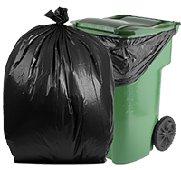 95 Gallon Contractor Bags: Black, 3 Mil, 61x68, 25 Bags/Case.