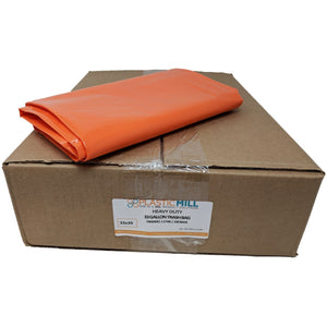 33 Gallon Garbage Bags: Orange, 1.2 MIL, 33x39, 100 Bags.