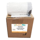 4 Gallon Garbage Bags, Drawstring: White, .7 MIL, 17x16, Select Case.