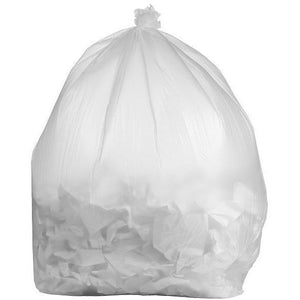 95 Gallon Garbage Bags: Clear, 1.5 Mil, 61x68, 50 Bag/Case.