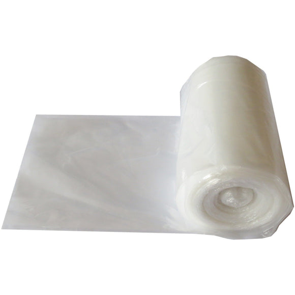 Plastic Tablecloth: Clear, 1.5 Mil, 66x1500, 5/case.